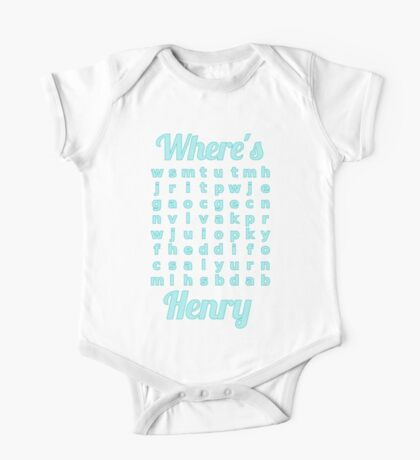 Baby Henry learns word puzzle One Piece - Short Sleeve