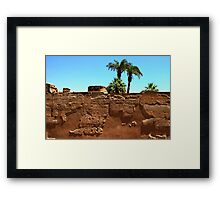 Luxor walls Framed Print