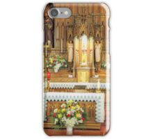 Altar of a Catholic Church iPhone Case/Skin
