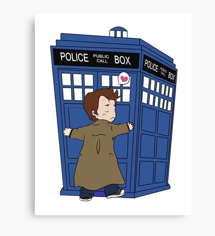 A Doctor and his TARDIS Canvas Print