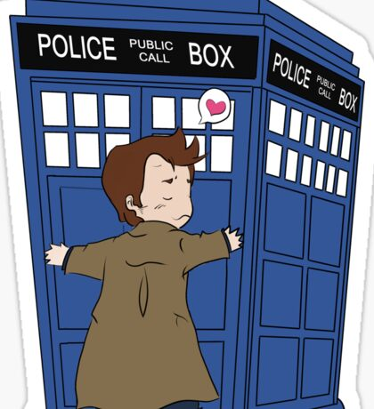 A Doctor and his TARDIS Sticker