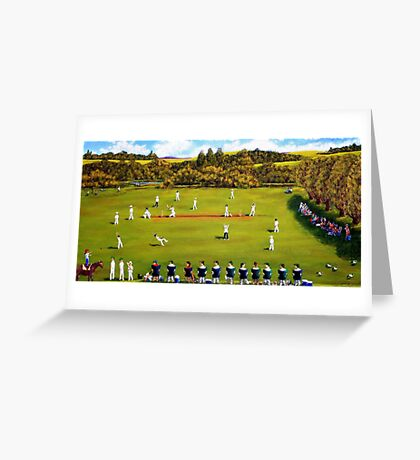 Saturday cricket Dorrigo Greeting Card