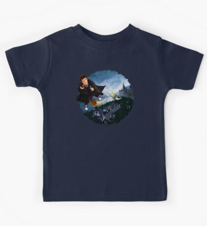 time and space traveller lost in the wizard World Kids Tee