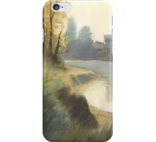 Autumn on the river iPhone Case/Skin