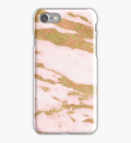 Rose gold red marble iPhone Case/Skin