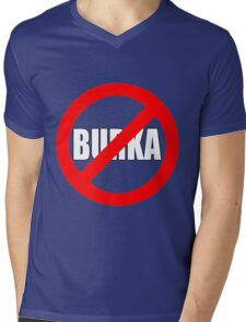 Banned Burka - Text Only Mens V-Neck T-Shirt