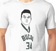 Milwaukee Bucks Greek Freak Mean Face Unisex T-Shirt