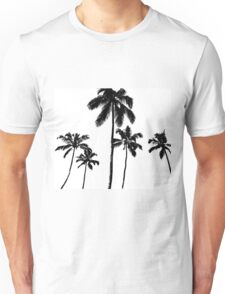 Tropical palms in monochrome Unisex T-Shirt