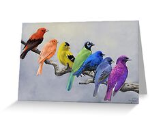 Birds of all Colors Greeting Card