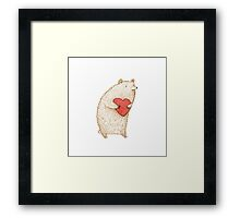 Bear with Heart Framed Print