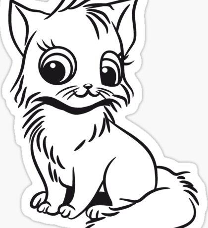 Katze baby niedlich sitzt  Sticker
