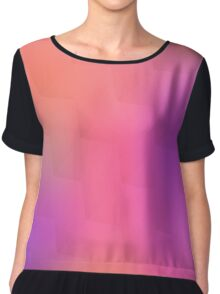 Colorful geometric blurred background Chiffon Top