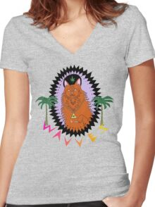 Wavves King of the Beach Women's Fitted V-Neck T-Shirt