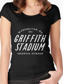 Griffith Stadium  Washington Women's Fitted Scoop T-Shirt