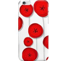 Red poppies pattern iPhone Case/Skin