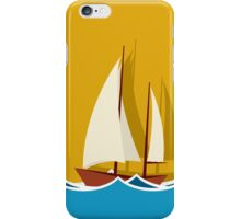 Sailing boat background iPhone Case/Skin