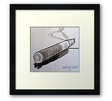smoking! Framed Print