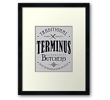 Terminus Butchers (dark) Framed Print