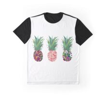 Row of Pineapples Graphic T-Shirt