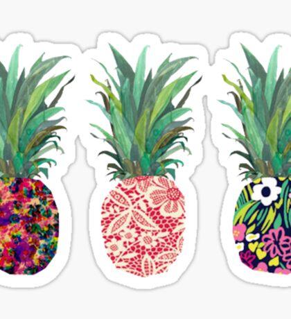 Row of Pineapples Sticker