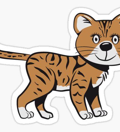 Katze baby niedlich lustig tiger  Sticker