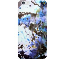 Hail Blue Storm Abstract Painting iPhone Case/Skin