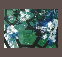 Codex Abstract Expressionism Joy Painting Green Black Blue Kids Clothes