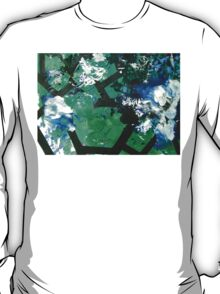 Codex Abstract Expressionism Joy Painting Green Black Blue T-Shirt