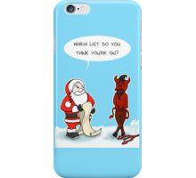 Santa & Satan iPhone Case/Skin