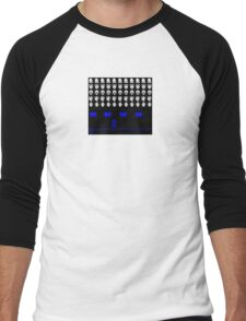 Time and Space Invaders Men's Baseball ¾ T-Shirt