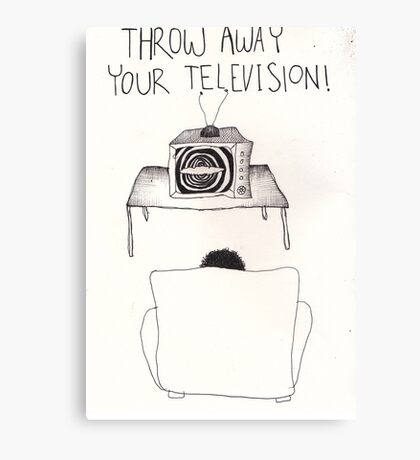 Throw Away Your Television Canvas Print