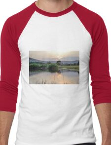 landscape african  lake Men's Baseball ¾ T-Shirt