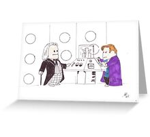 whodipose in space in time Greeting Card