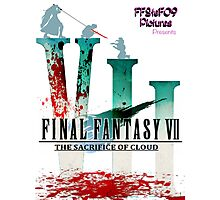 Final Fantasy VII: The Sacrifice Of Cloud - Numbers and Characters With Blood Photographic Print