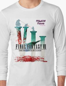 Final Fantasy VII: The Sacrifice Of Cloud - Numbers and Characters With Blood Long Sleeve T-Shirt