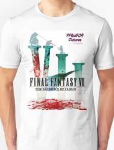 Final Fantasy VII: The Sacrifice Of Cloud - Numbers and Characters With Blood T-Shirt