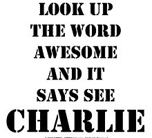Look Up The Word Awesome - Black Text by cmmei