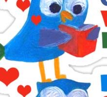 reading owls Sticker