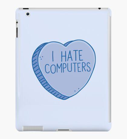 I HATE COMPUTERS heart candy iPad Case/Skin