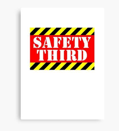 Safety third Canvas Print