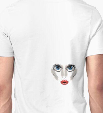 blue eyes, red lips  Unisex T-Shirt
