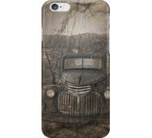 Pencil drawing of vintage Chevy iPhone Case/Skin