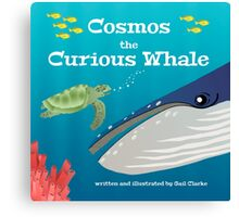 Cosmos the Curious Whale Canvas Print