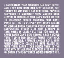 Rock beats paper. Kids Clothes