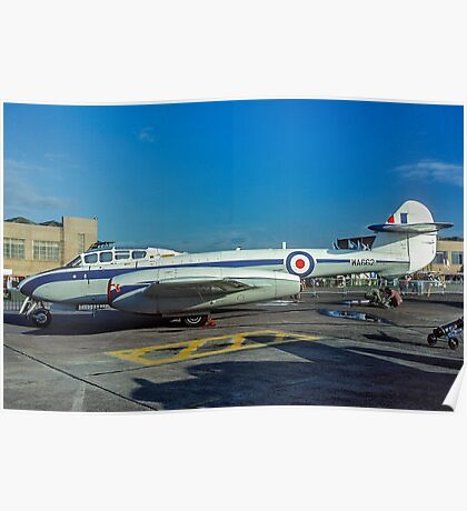 Gloster Meteor T.7 WA662  Poster