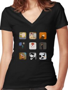 There's an app for that Bowie Women's Fitted V-Neck T-Shirt