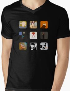 There's an app for that Bowie Mens V-Neck T-Shirt