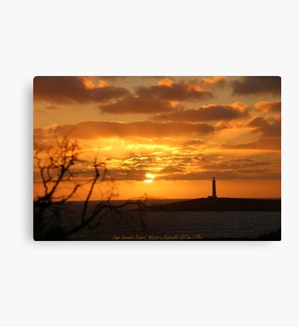 Cape Leeuwin Sunset, Western Australia Canvas Print