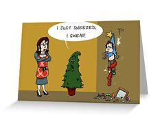 Suspicious Trees Greeting Card