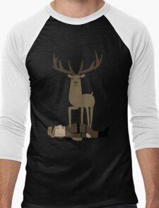 When the Deer Fights Back Men's Baseball ¾ T-Shirt